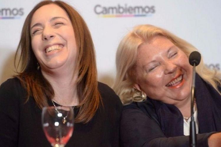 Elisa Carrió acompañó a María Eugenia Vidal en su campaña por Recoleta